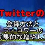 Twitterの始め方・登録方法と序盤のフォロワーの増やし方のコツ